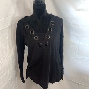 Cable and gauge black Pullover